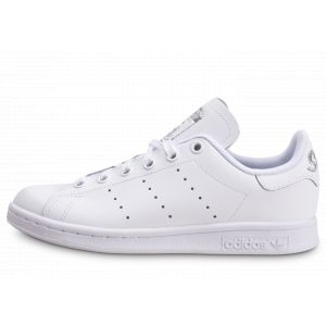 Adidas Enfant Stan Smith Blanc Argent Junior Tennis