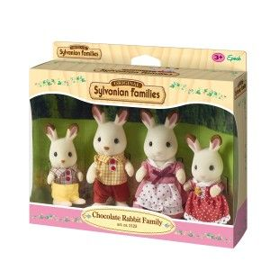 Image de Epoch 4 Figurines Famille Lapin Chocolat