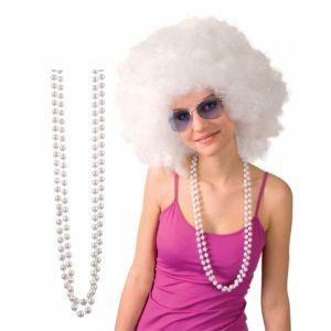 Collier de perles blanches adulte