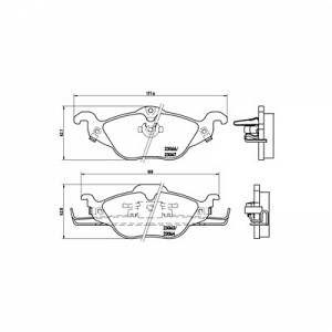 Brembo 4 plaquettes de frein P59030