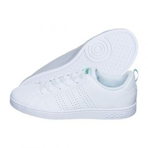 Adidas VS Advantage Clean K, Baskets, Unisexe, Enfant, Blanc (Footwear White/Footwear White/Green 0), 38 2/3 EU