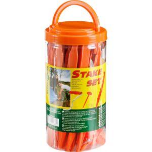 Brunner Stake Set - Accessoire tente - orange Sardine et piquet