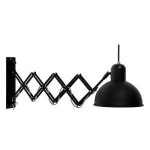 It's About Romi Applique murale accordéon acier mat Aberdeen - noir Diamètre 20 - Longueur 58/82 Hauteur 28 cm
