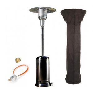 Empasa Parasol Chauffant au Gaz CLASSIC LIGHT - Inclus détendeur Noir Housse noire