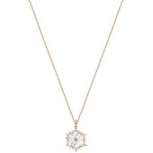 Swarovski Collier et pendentif Bijoux 5428431 - Acier Doré Rose Cristaux Femme