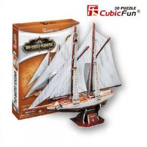CubicFun Two-Masted Schooner - Puzzle 3D 81 pièces