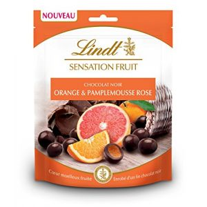 Lindt Sensation fruit - Orange Pamplemousse rose - chocolat noir