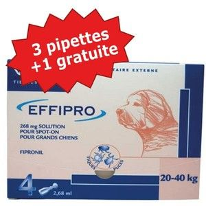 Virbac Effipro Duo Grand Chien (20-40Kg) 4 pipettes