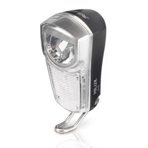 XLC Lampe avant LED - Éclairage vélo - 35 Lux noir/transparent Lampes dynamo