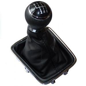 Aerzetix Pommeau soufflet et cadre de levier de vitesse 6 vitesses pour auto voiture C15777