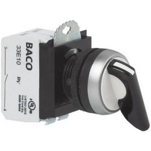 Baco Bouton sélecteur anneau frontal plastique, chromé BAL21MR03A noir 2 x 45 ° 1 pc(s)