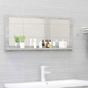 VidaXL Miroir de salle de bain Gris béton 90x10,5x37 cm Aggloméré