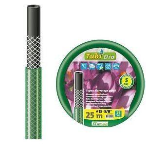 Ribiland PRTG25V15 - Tuyau Tubi'Dro guipe vert translucide 15/25 m