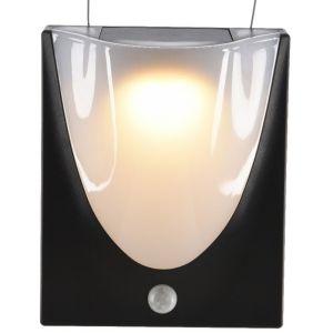 Lumineo Applique murale solaire led blanc chaud avec détecteur de mouvement