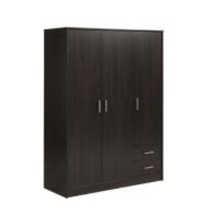 Armoire Opalia 3 portes, 2 tiroirs (133,3 x 180 cm)