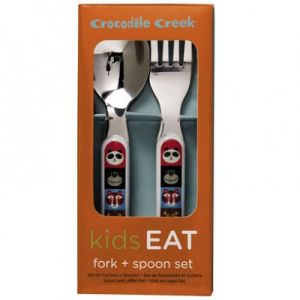 Crocodile creek Set de 2 couverts Animaux