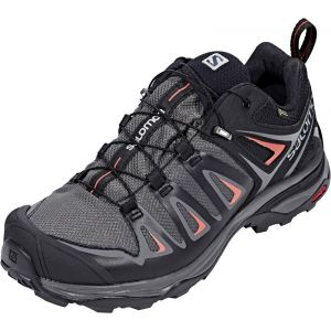 Salomon X Ultra 3 GTX W, Chaussures de Randonnée Basses Femme, Multicolore (Magnet/Black/Mineral Red), 38 2/3 EU