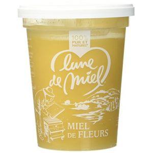 Lune de miel Miel de Fleurs Crémeux Pot Plastique 500 g - Lot de 3