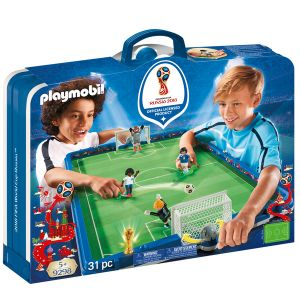 Playmobil Stade foot transportable Coupe Du Monde FIFA Russie 2018