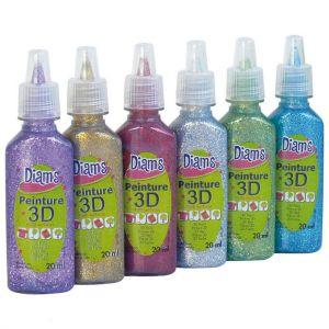 Diam's 3D mini Set Total Star - 6 couleurs pailletées