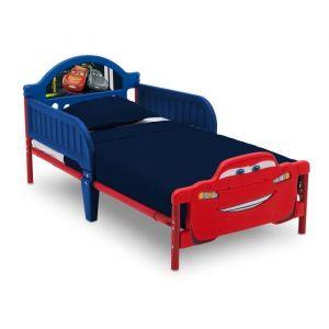Delta Children Lit pour enfant Cars 3 avec pieds de lit 3D (70 x 140 cm)