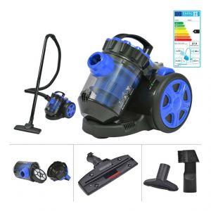 VidaXL Aspirateur multi-cyclone sans sac pour tapis de plancher Bleu