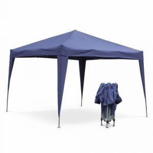 Alice's Garden Tonnelle pliante 3 x 3 m - Tecto Bleu - Tente de jardin pop up, pergola pliable, barnum, chapiteau, tente de réception