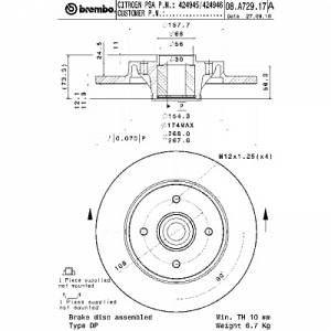 Brembo 1 Disque de frein avec roulement 08.A729.17