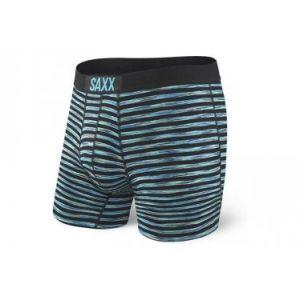 Saxx Underwear Saxx - Vibe Boxer Modern Fit - Sous-vêtements synthétiques taille XL, noir/turquoise