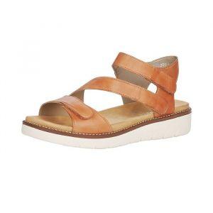 Remonte Femme Sandales, Dame Sandale à lanières,Spartiates,Sandales Gladiator,Chaussures d'été,Confortables,noccia / 24,40 EU / 6.5 UK
