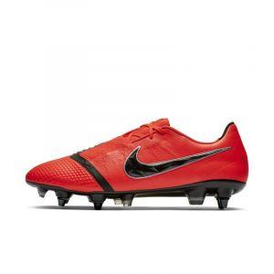 Nike Chaussure de footballà crampons pour terrain gras Phantom Venom Elite SG-Pro Anti-Clog Traction - Rouge - Taille 36 - Unisex