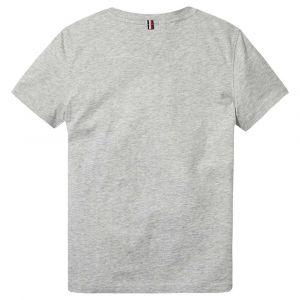 Tommy Hilfiger Basic CN Knit S/s T- T-Shirt, Gris (Grey Heather 004), 140 (Taille Fabricant: 10) Garçon