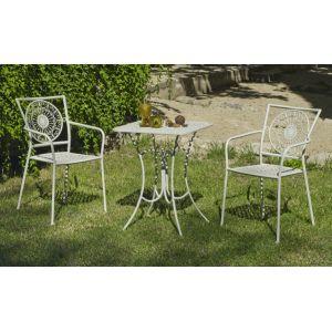 Hévéa Veracruz - Table de jardin 60 cm et 2 fauteuils