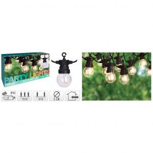 Progarden Guirlande lumineuse de jardin 10 ampoules LED 24 V