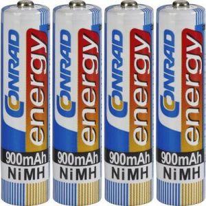 Accu LR03 (AAA) NiMH 1.2V Conrad energy 250900 900 mAh x4