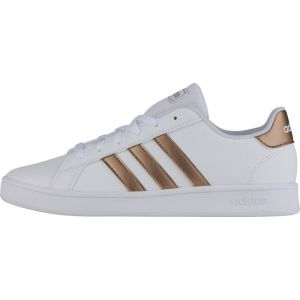 Adidas Baskets Grand Court Kid - Ftwr White / Copper Metal / Glow Pink - EU 36