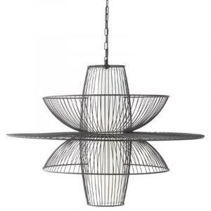 """Lampe Suspension en Métal """"Air"""" 59cm Noir Prix"""