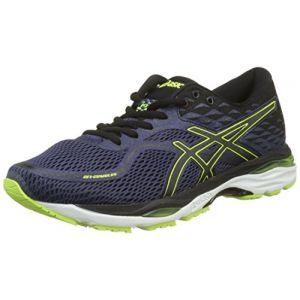 Asics Gel-Cumulus 19, Chaussures de Running Compétition Homme, Bleu (Indigo Blue/Black/Safety Yellow 4990), 42 EU