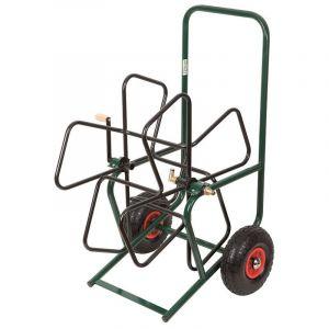 Heliotrade Devidoir enrouleur PRO de tuyau de jardin sur roue gonflable
