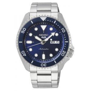 Seiko Montre 5 SRPD51K1 - Automatique Fonction Dateur Boîtier Acier Argenté Bracelet Acier Argenté Cadran Bleu Homme