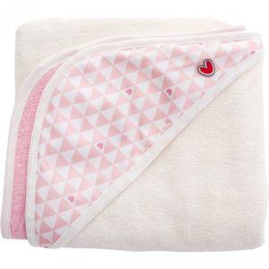Baby to Love Sortie de bain Papillon - Pink Heart 106 x 98 cm