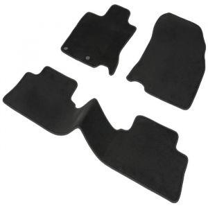 DBS 1763933 Tapis Auto - Sur Mesure - Tapis de sol pour Voiture - 3 Pièces - Antidérapant - Moquette Haute Qualité 1000g/m² - Finition Velours - Gamme Luxe