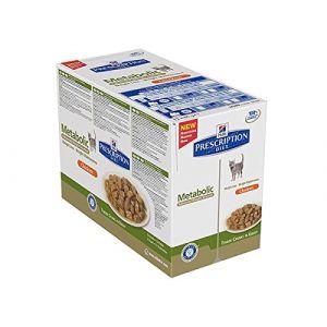 Hill's Prescription Diet Metabolic feline - 12 sachets repas 85 g