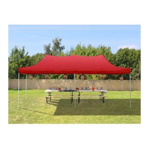 Intent24 Tente de Réception Rouge 3 x 6 m - Tente pliante