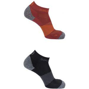 Salomon Speed - Chaussettes course à pied - 2 Pack rouge EU 36-38 Chaussettes Running