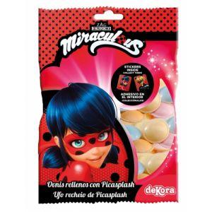 Dekora Generique - Bonbons avec Stickers adhésifs Ladybug