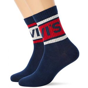 Levi's Chaussettes -- 168sf Short Cut Shorty Sporty 2 Pack - Dark Blue Combo - EU 43-46