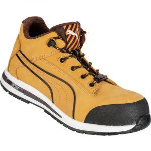 Puma Safety Chaussure de sécurité montante 100% non métaliique Dash Wheat Mid S3 SRC Jaune/Noir 43