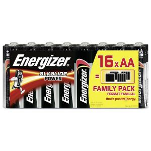 Energizer 16 piles AA (LR6) alcalines 1,5V Classic