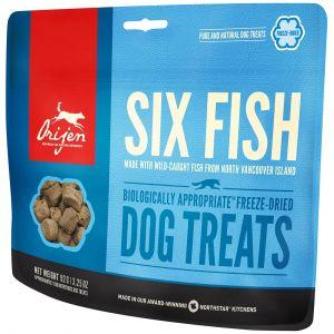 Orijen Friandises pour chien Six Fish Contenance : 42,5 g